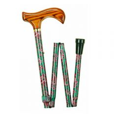 Folding Paisley Walking Stick