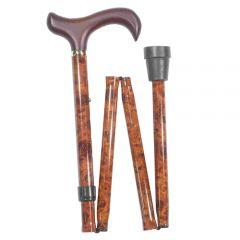 Folding Burr Walking Stick