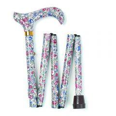Cream Floral Walking Stick