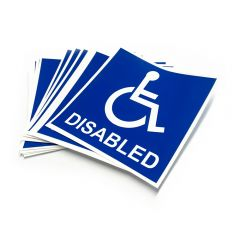 Disabled Cling Sticker