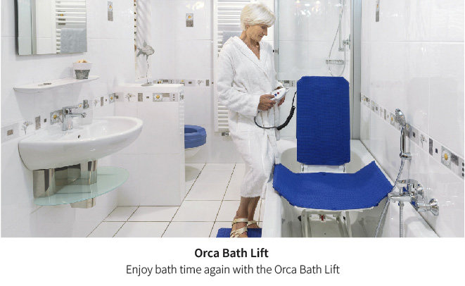 Enjoy bath time again with the Orca bath lift
