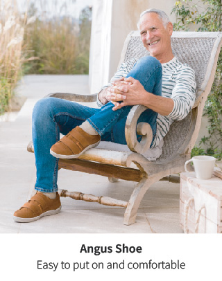 Comfortable and casual Angus shoe.