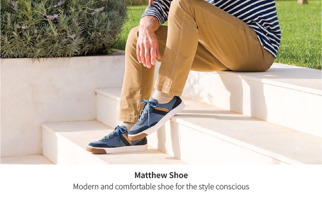 Comfortable, modern and stylish. The new Michael shoe.