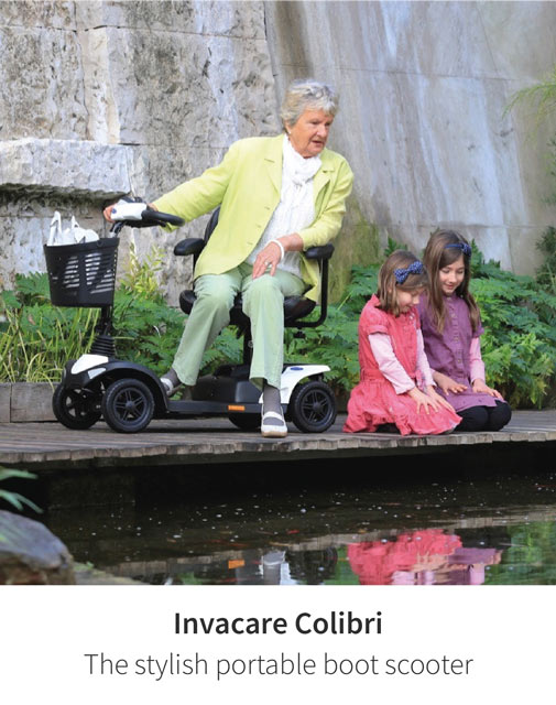 Find a colour to suit your style - The Invacare Colibri