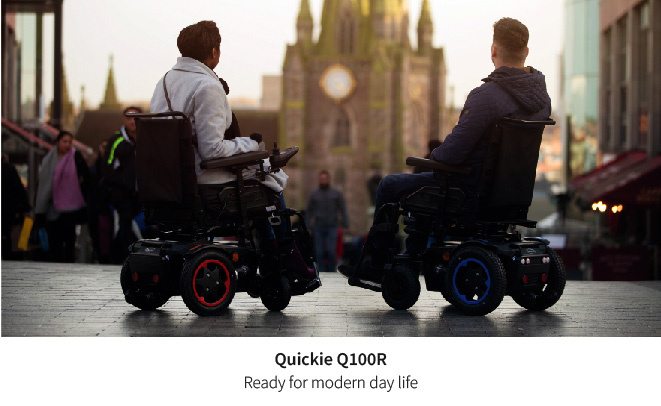 Style and performance in the Quickie Q100R powerchair