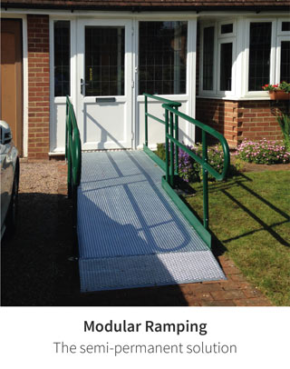 Modular, metal ramping for a wide range of domestic and commercial environments.