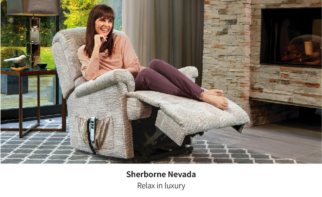 The attractive and comfortable Sherborne Nevada riser recliner