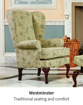 Westminster, traditional fireside armchair