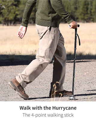 Walk with the Hurrycane - The 4-point walking stick