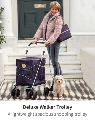 Deluxe Walker Trolley - A lightweight spacious shopping trolley