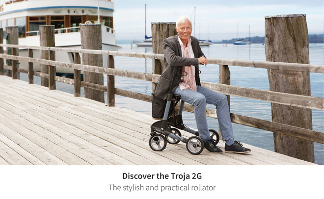 Discover the Troja 2G - The stylish and practical rollator