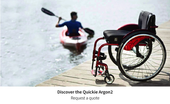 The ideal wheelchair for an active life - The Quickie Argon