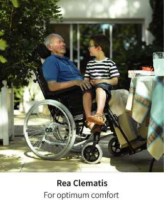 Find your position with the Rea Clematis wheelchair