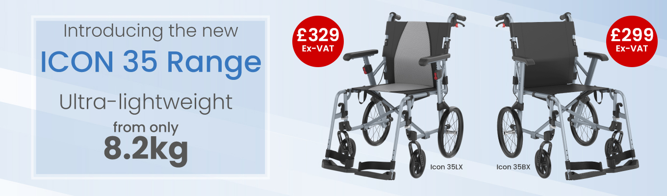 The new Icon 35 Wheelchair range. Order now from £329.