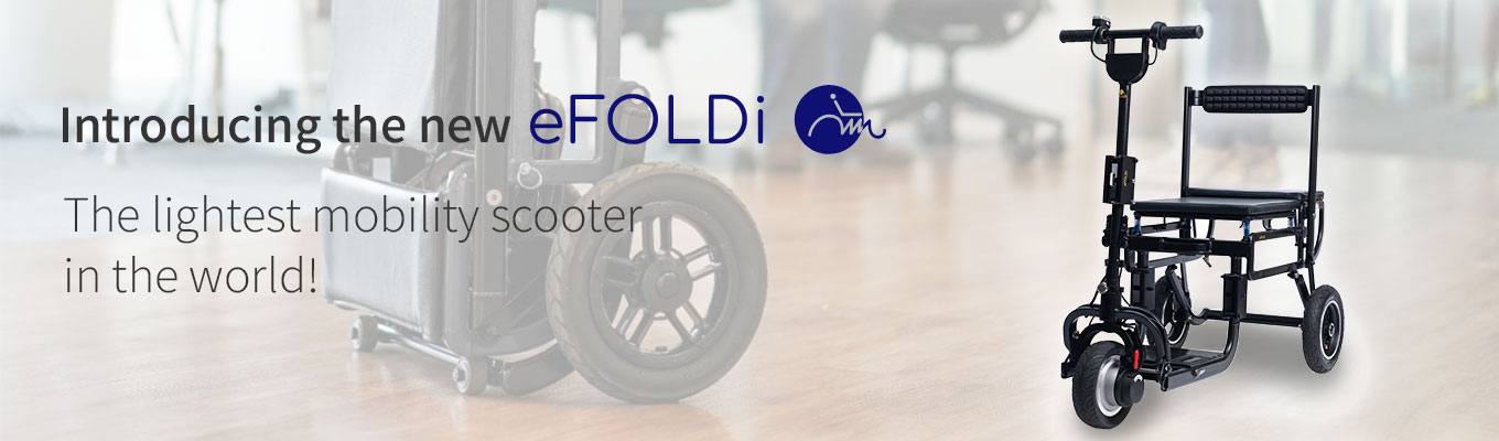 eFoldi Lite Mobility Scooter from Clearwell Mobility