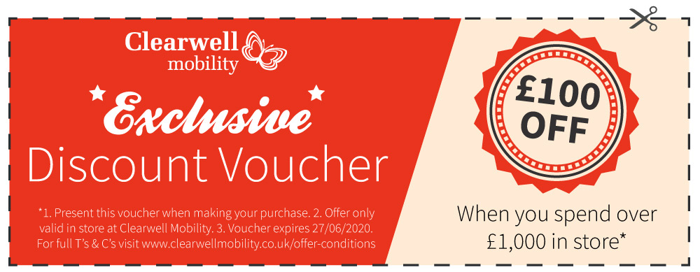Exclusive Discount Vouchers Clearwell Mobility Uk